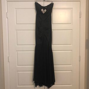 Cache Black strapless long gown